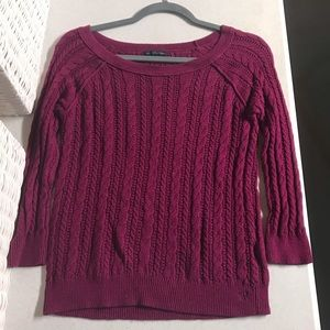 AEO Purple Knit Sweater